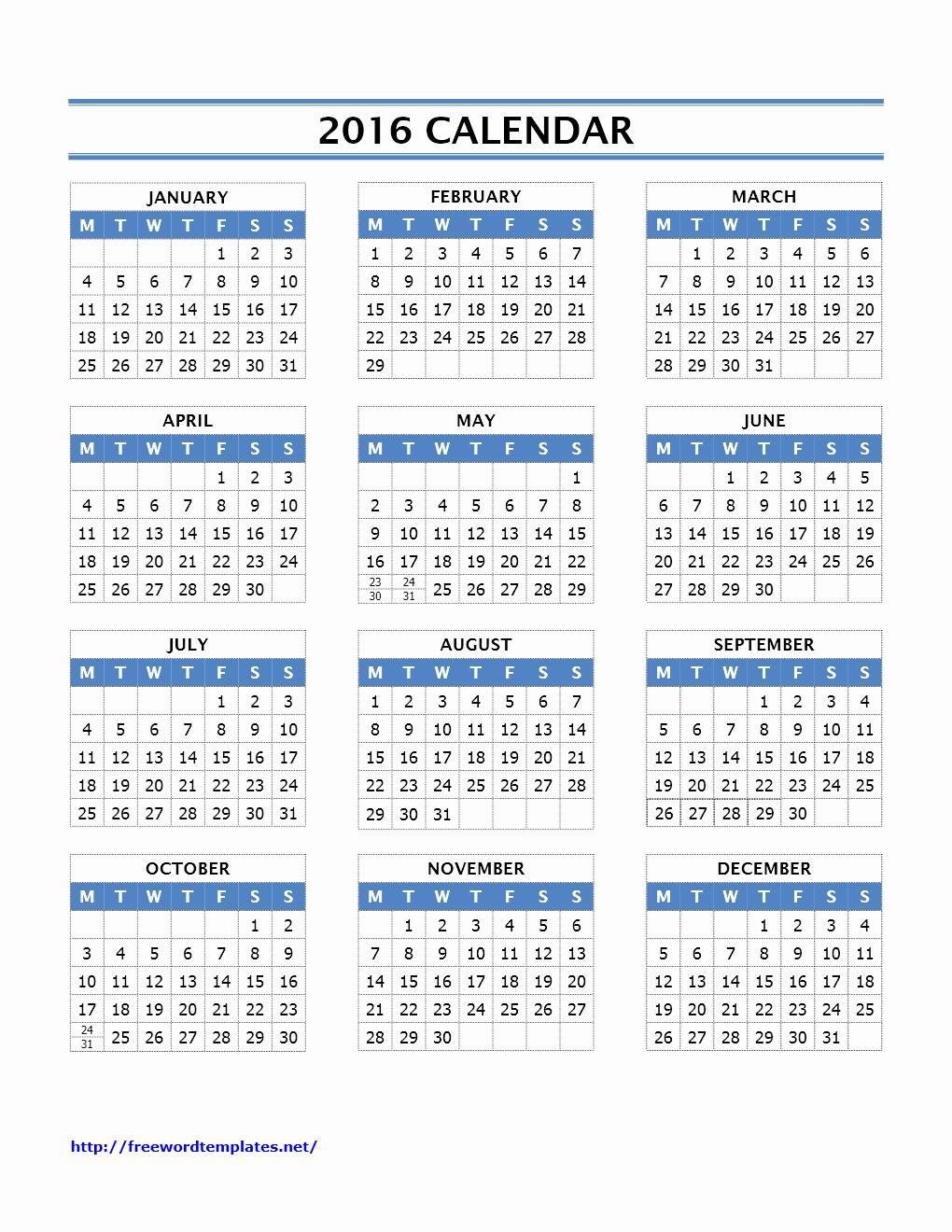 October 2016 Calendar Printable E Page – 2017 Printable