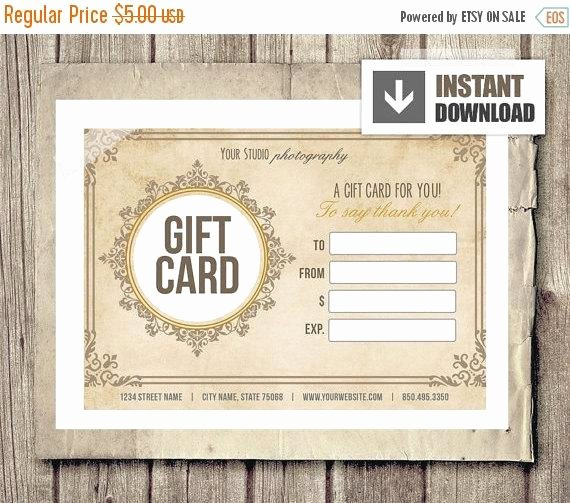 Off Sale Gift Card Certificate Template by