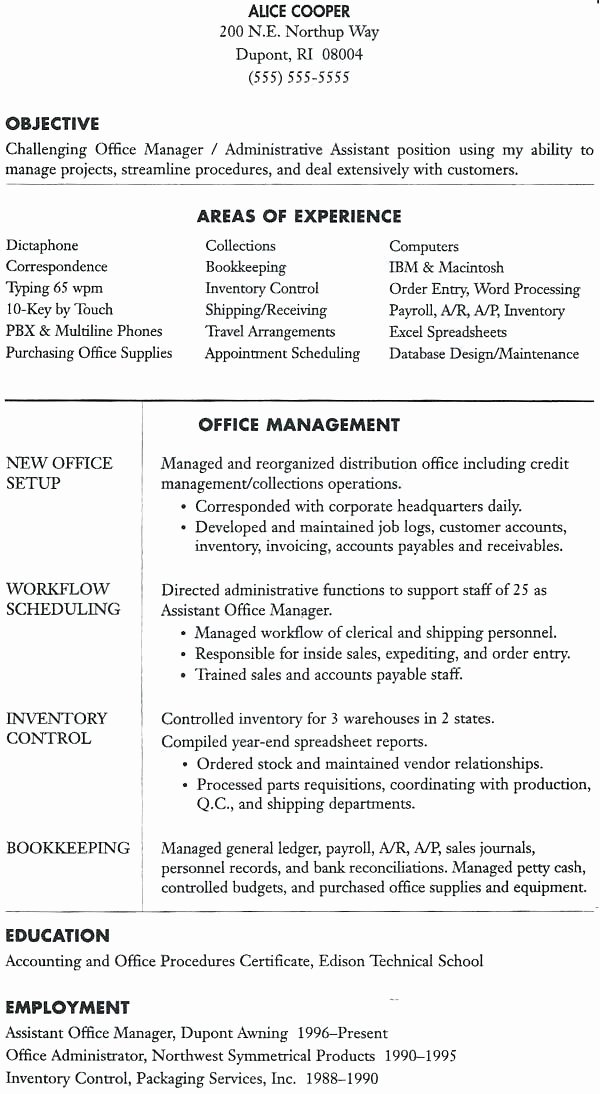 Office Manager Resume Objective – Resume Ideas Pro