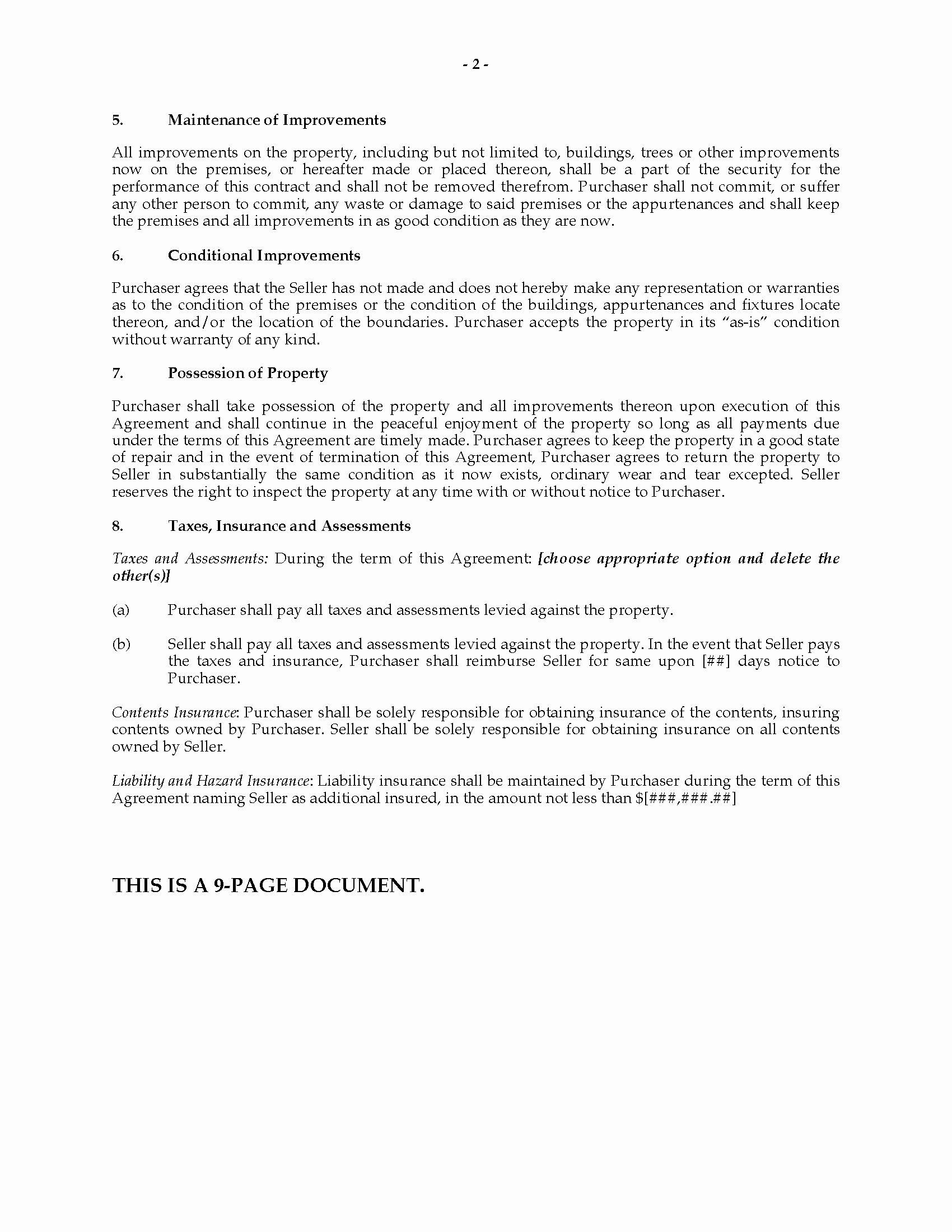 Ohio Installment Land Contract