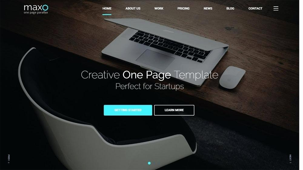 One Page Parallax Template – Shiftevents