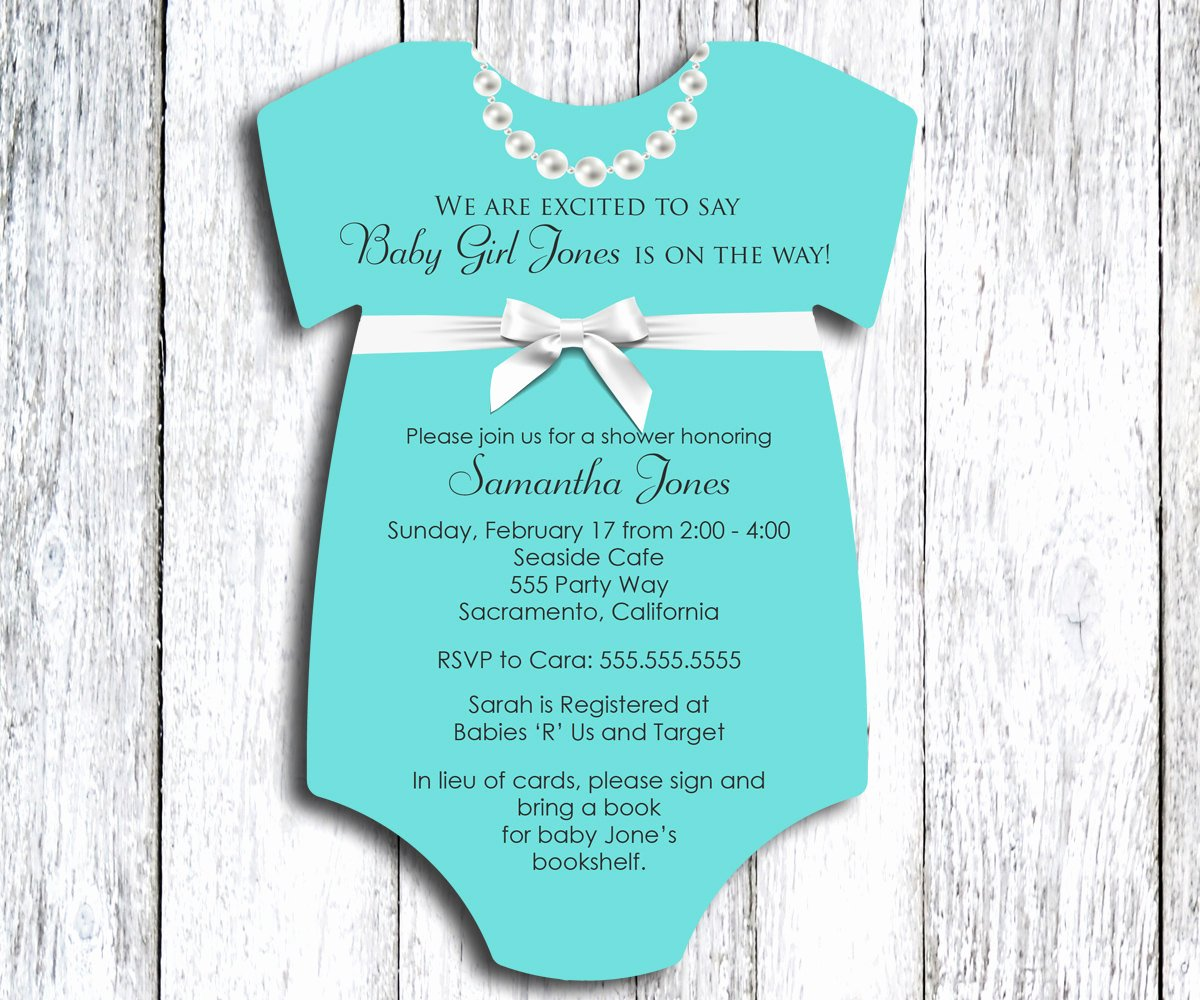 Onesie Baby Shower Invitation Esie Baby Shower
