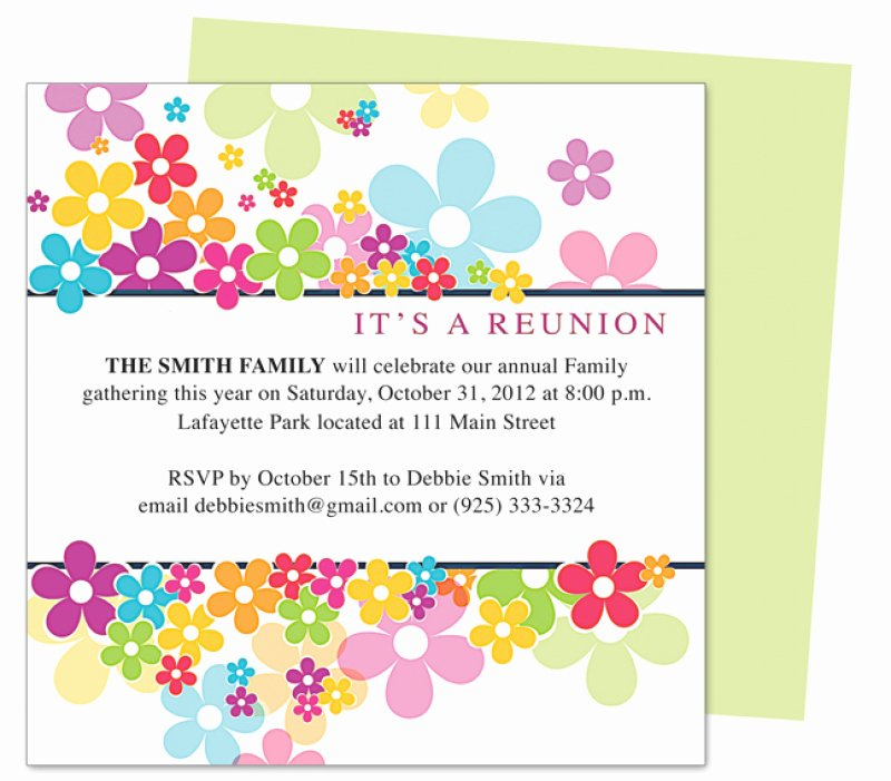 Open Fice Luau Invitation Template Free