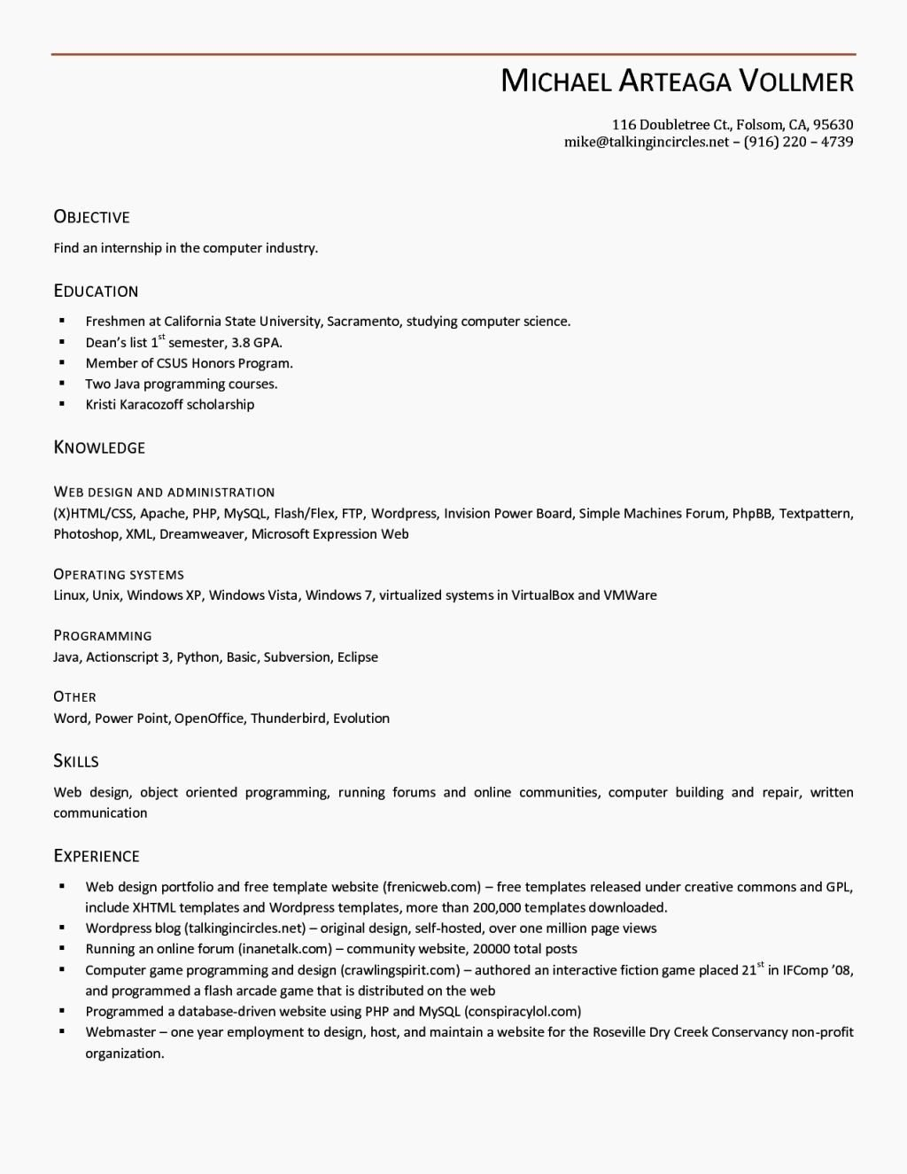 Open Fice Resume Template Beepmunk