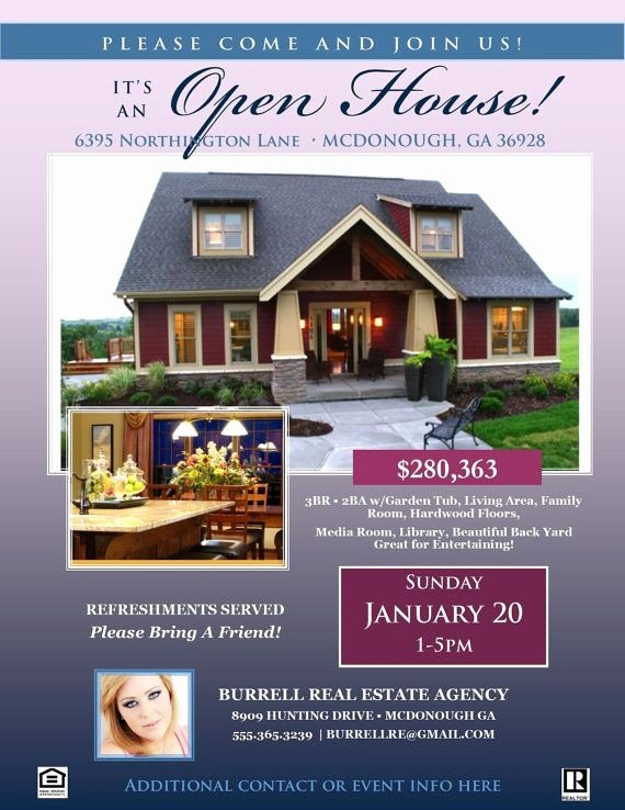 Open House Brochure Template Flyer Microsoft Word