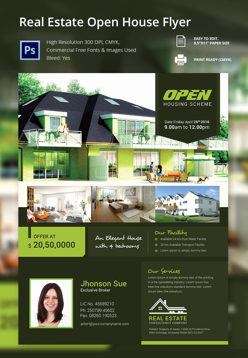 Open House Flyer Free Psd format Download Brochure