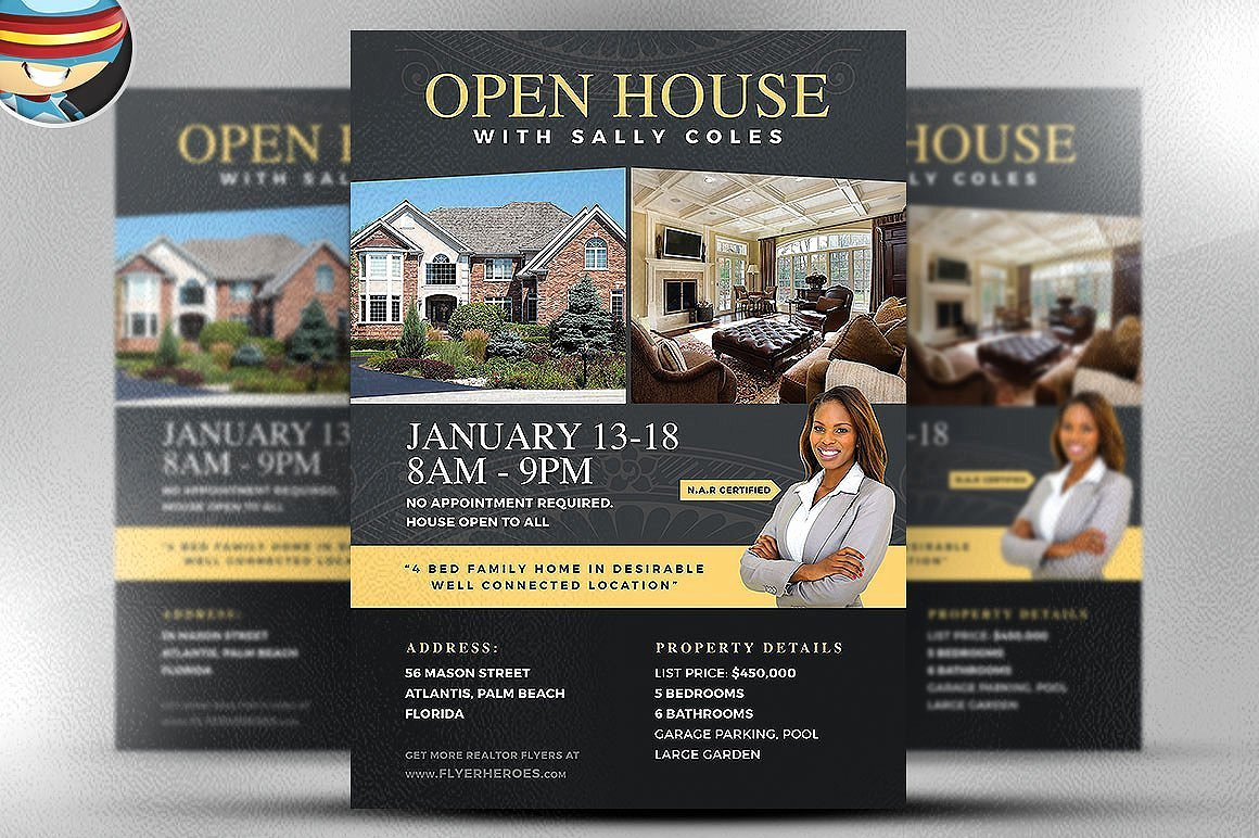 Open House Flyer Template 2 Flyer Templates Creative