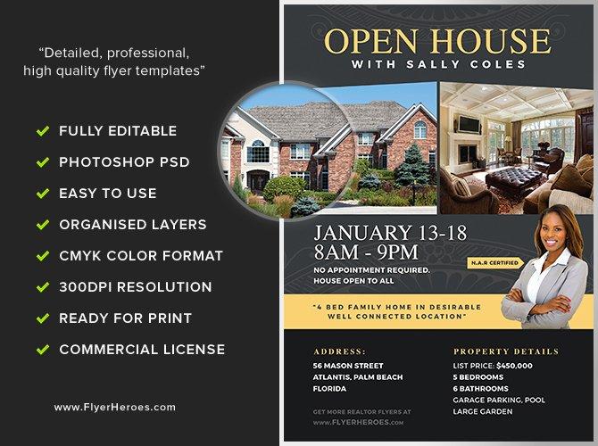 Open House Flyer Template 2 Flyerheroes