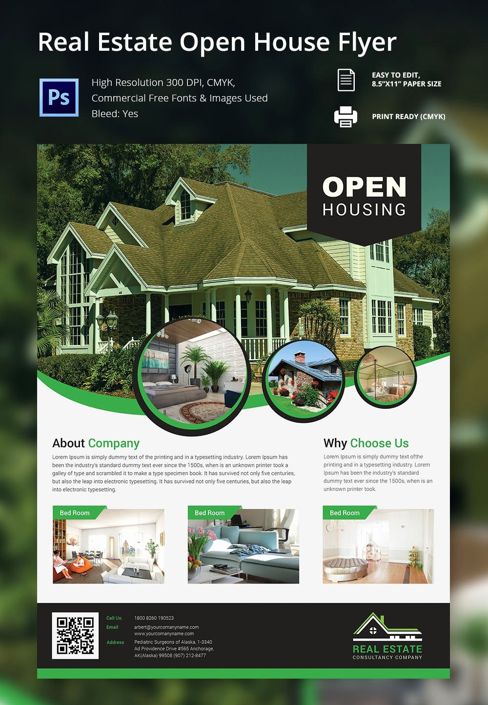 Open House Flyer Template – 30 Free Psd format Download