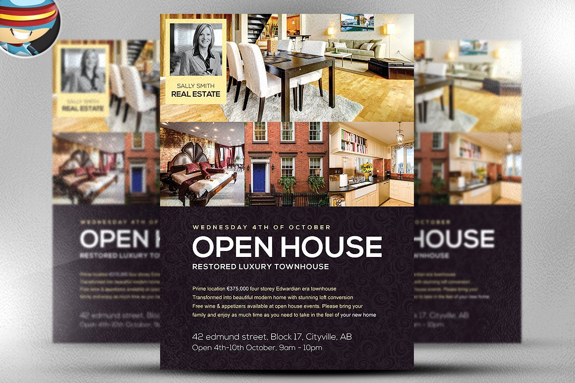 Open House Flyer Template Flyer Templates On Creative Market