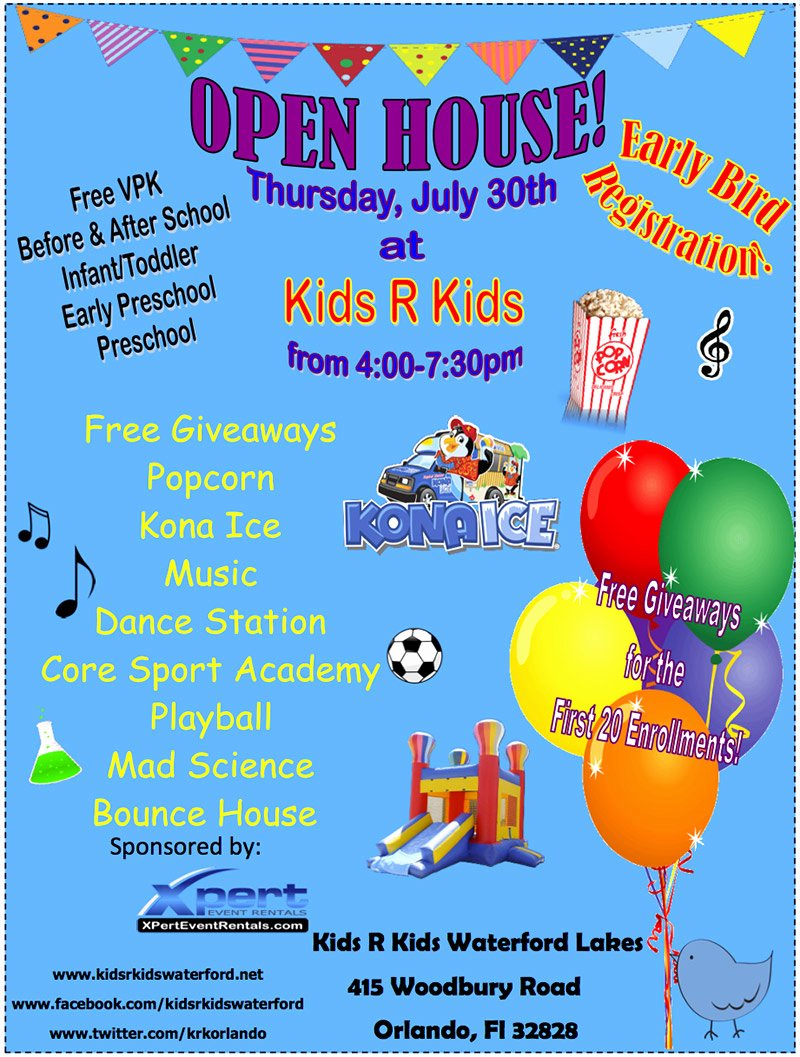 Open House Flyer Template for Day Car Nice