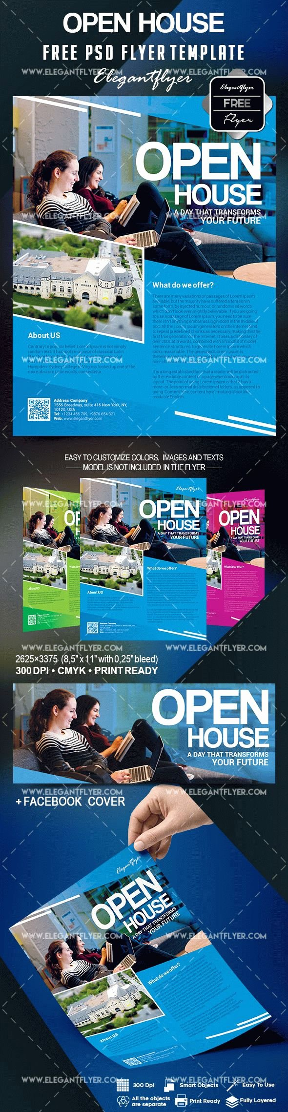 Open House Flyer Template Free – by Elegantflyer
