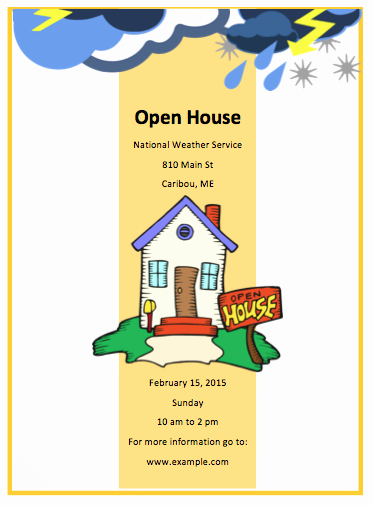 Open House Flyer Template Free Flyer Templates