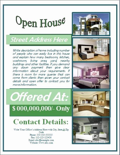 Open House Flyer Template Free for Mortgage