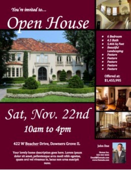 Open House Flyer Templates Word Excel Samples