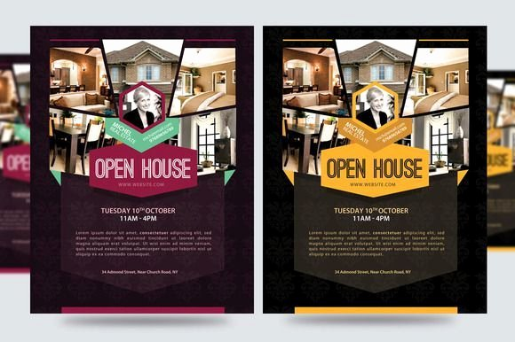 Open House Flyers for Mortgage Professionals Realestate