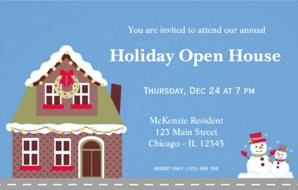 Open House Invitations Templates Free Download 20
