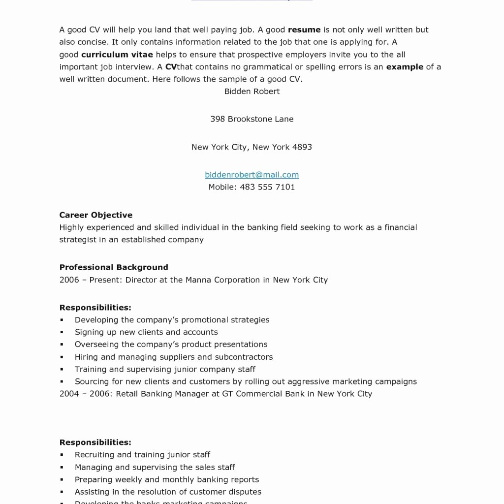 Opening Statement Cover Letter