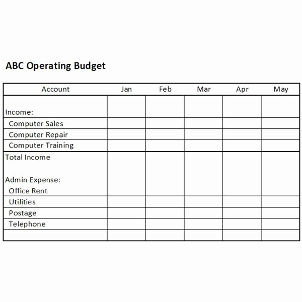 Operating Expense Bud Template Excel Use This Excel