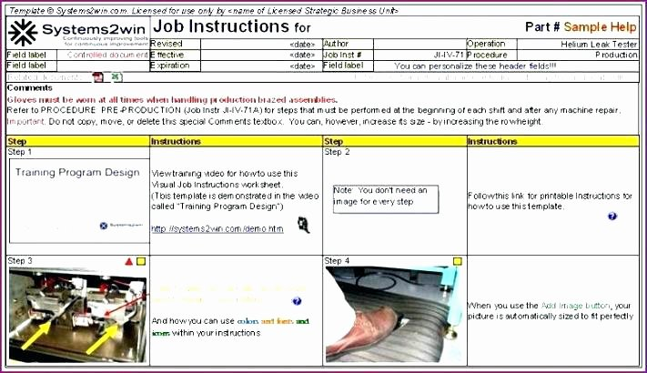 Operating Procedure Template Standard Word Free sop