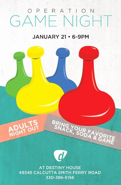 Operation Game Night Flyer