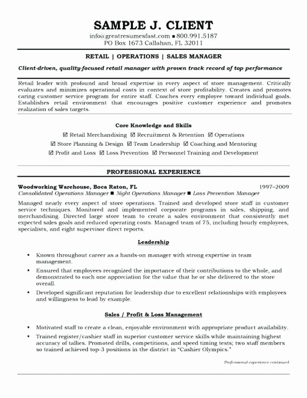 Operations Manager Resume Template Sarahepps