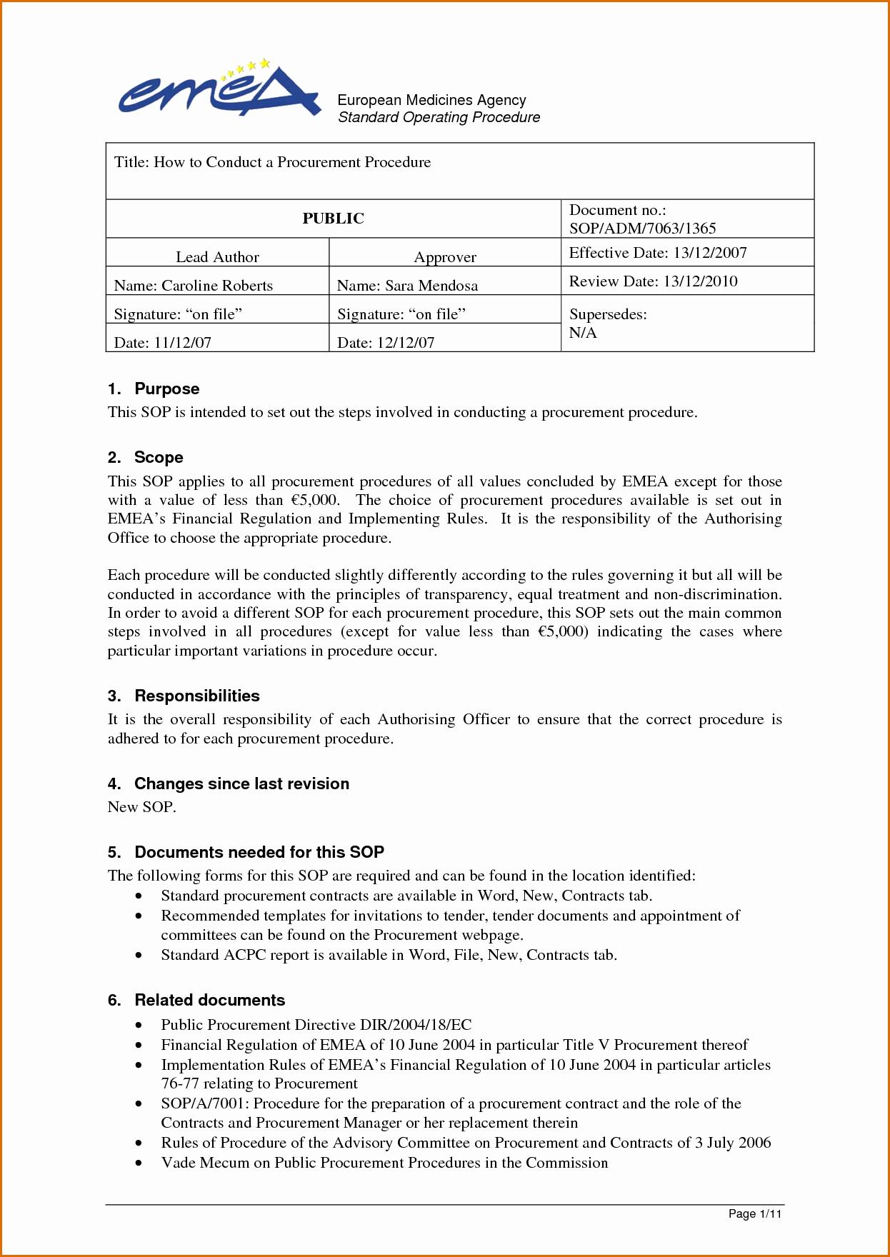 Operations Manual Template Word Portablegasgrillweber