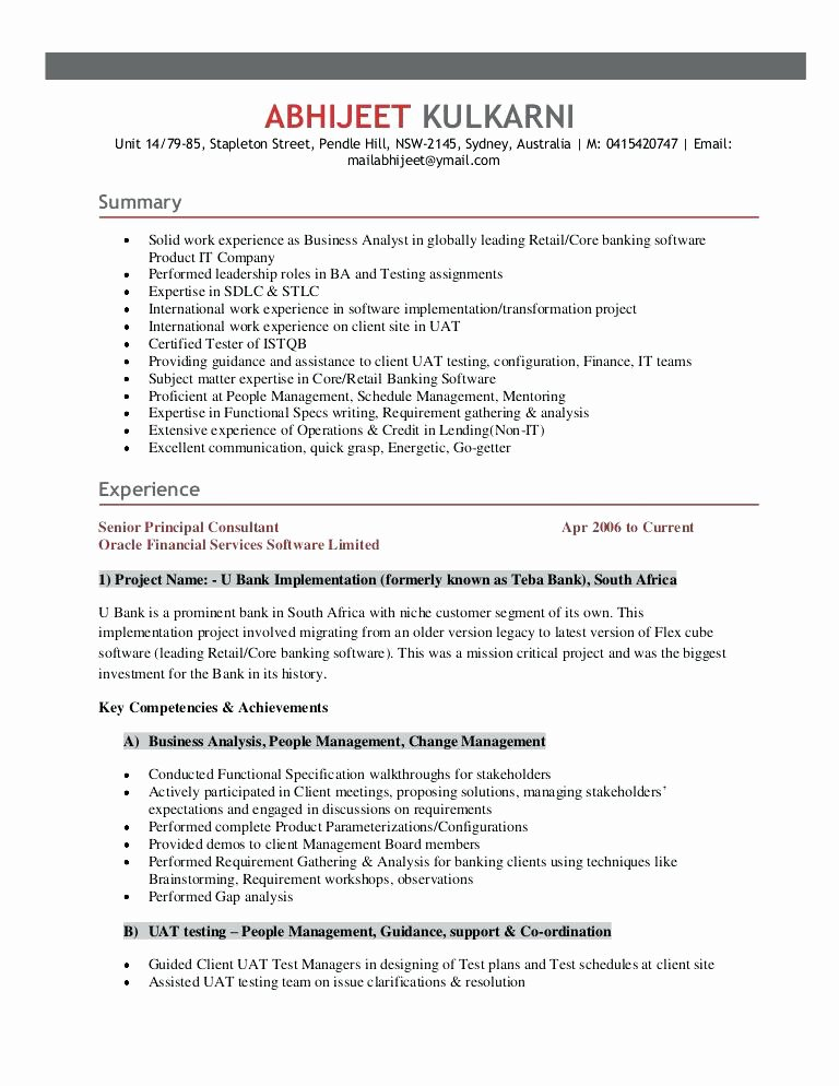 Oracle Consultant Resume Accounting Specialist Objective