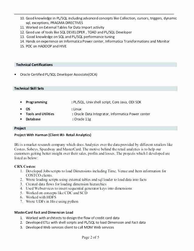 Oracle Data Integrator Resume oracle Data Integrator