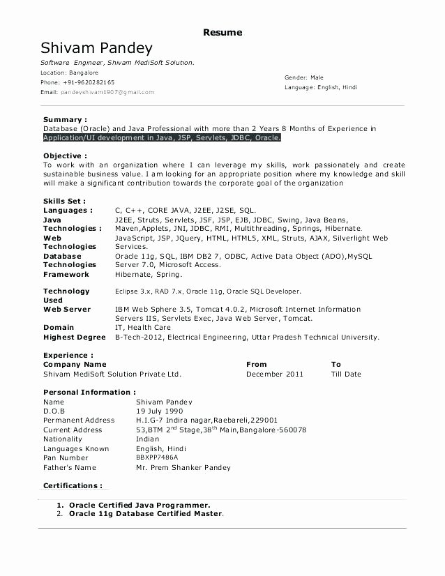Oracle Pl Sql Developer Resume Sample – Komphelpso