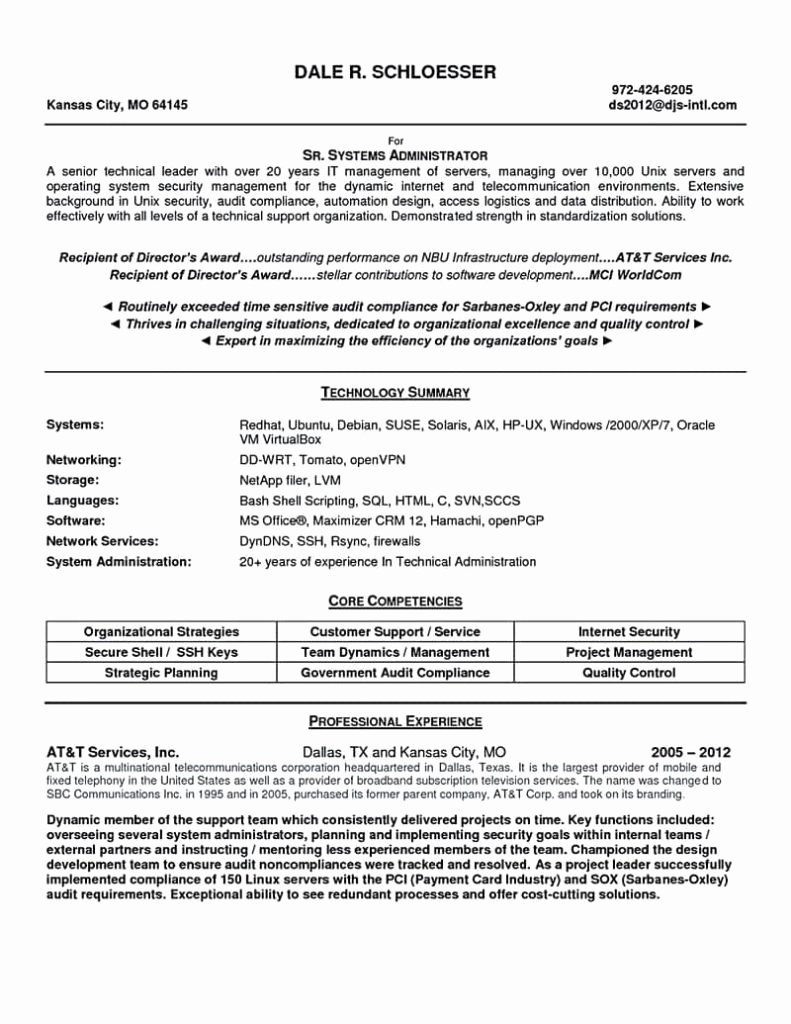 oracle systems administrator cover letter
