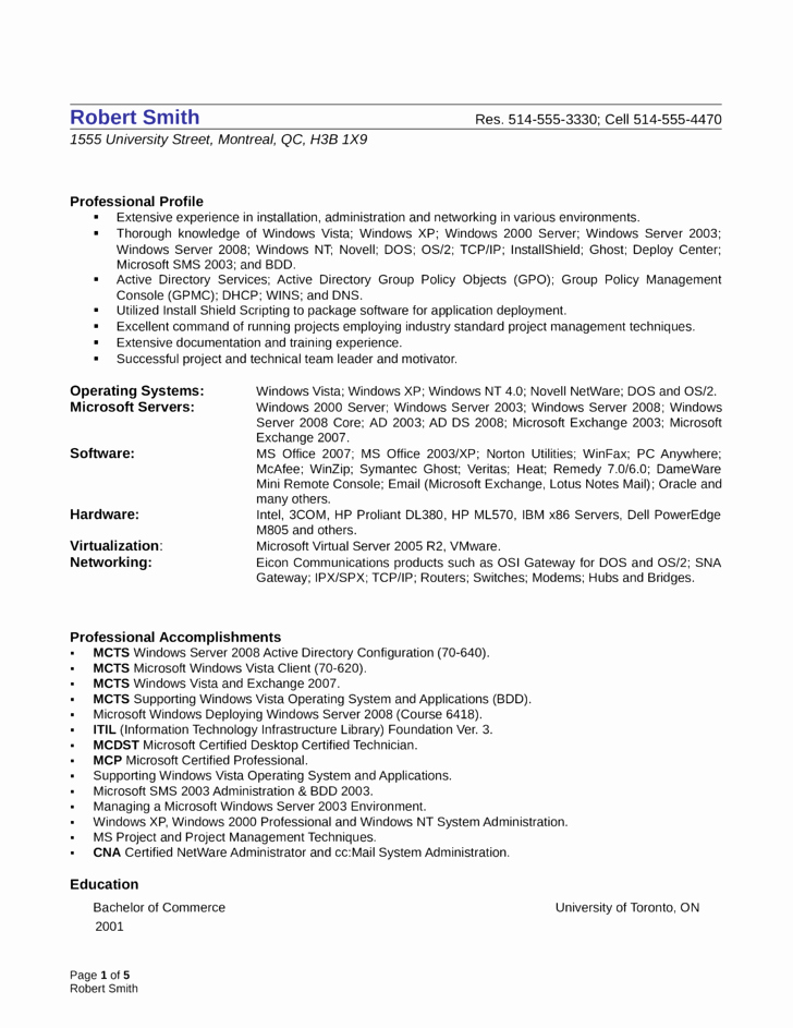 Oracle Systems Administrator Cover Letter Sarahepps