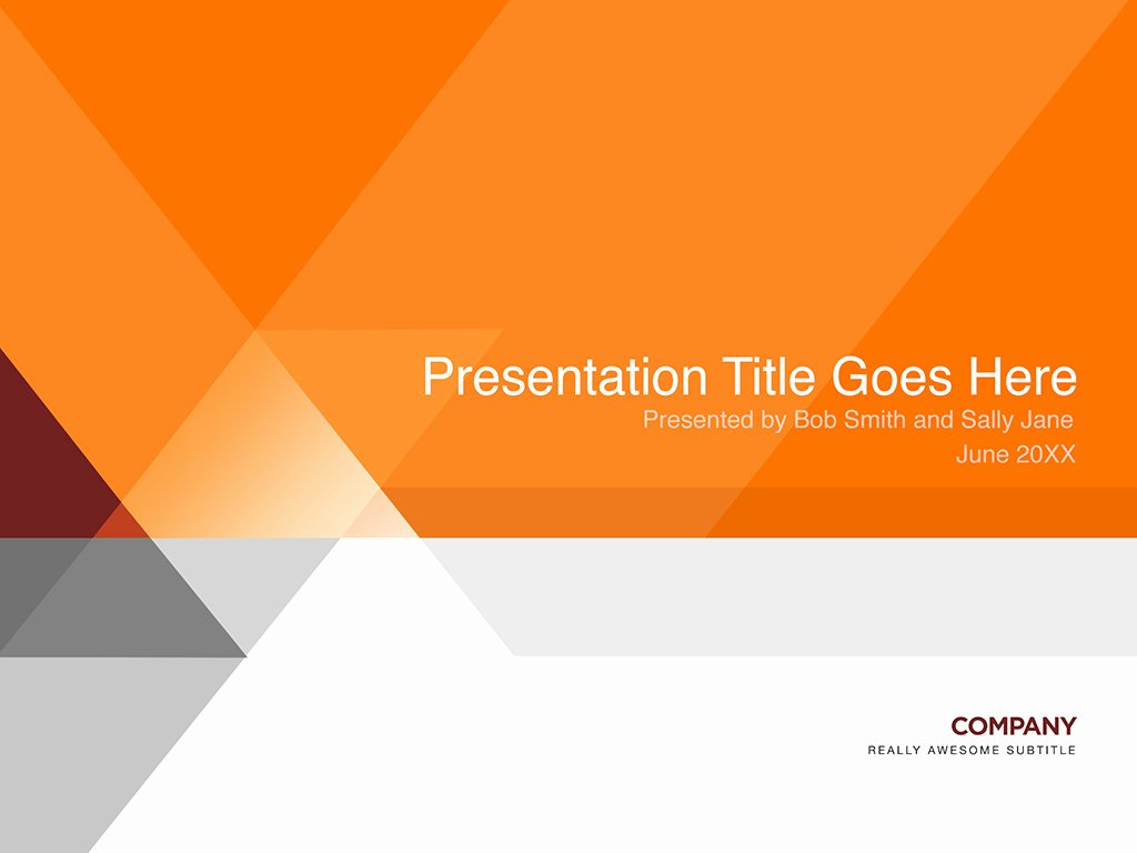 Orange and Gray Presentation Template In Shop Psd