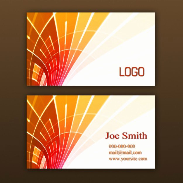 Orange Business Card Template Psd File