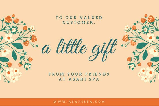 Orange Floral Massage Gift Certificate Templates by Canva
