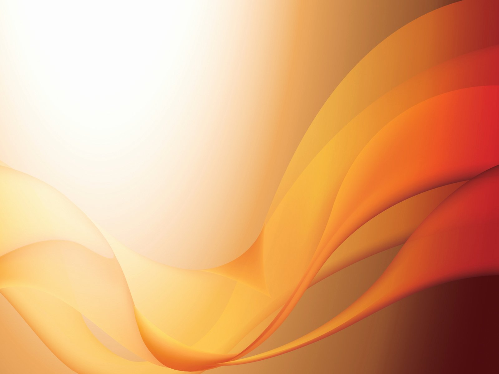 Orange Waves Powerpoint Templates Abstract orange