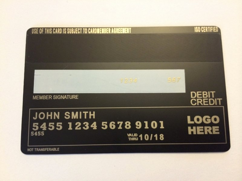 Order now Metal Credit Card