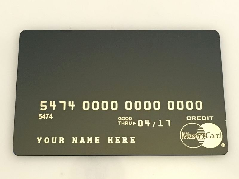 Order now – Metal Creditcard