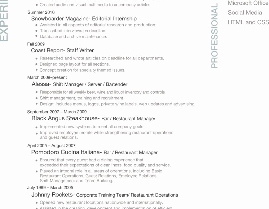 Order Sections A Resume – Profesional Resume Template