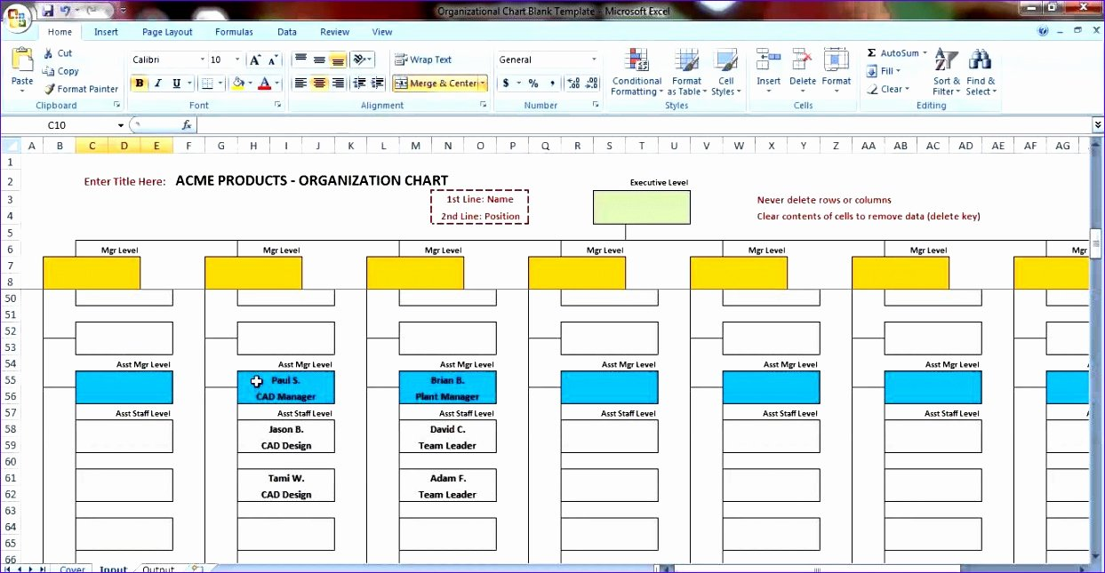 Org Chart Free Template Business Process Flow Diagram