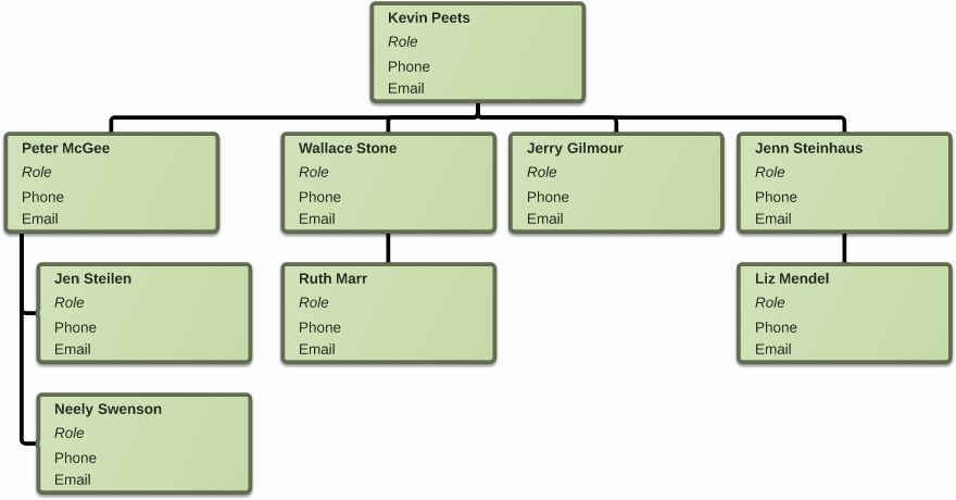 Organizational Chart Template Word