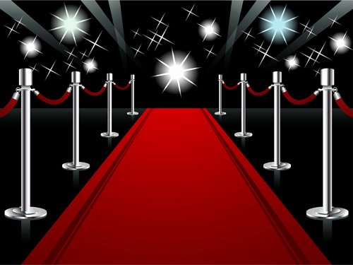 Ornate Red Carpet Backgrounds Vector 05