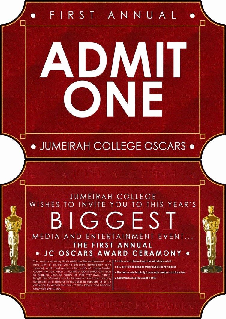 Oscar Invitation Template Invitation Template
