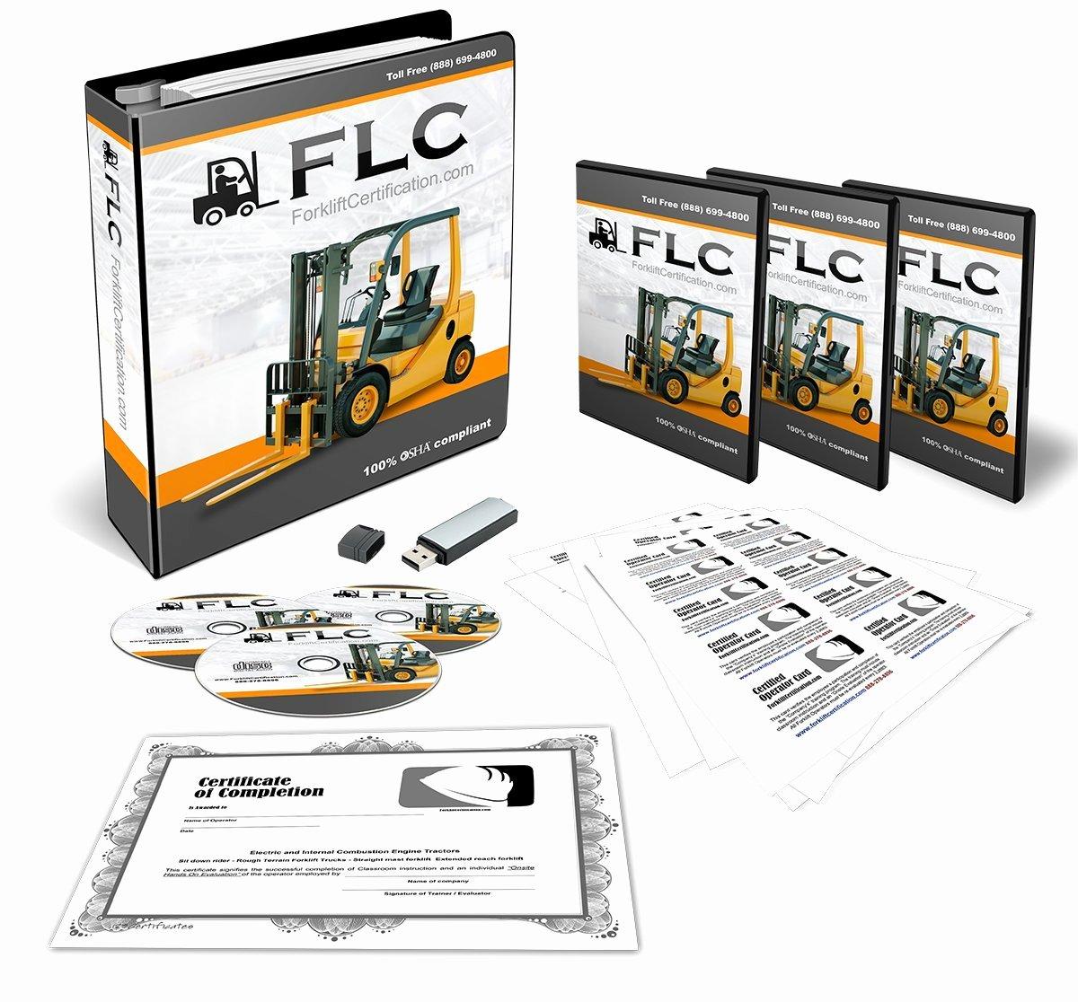 Osha Pliant forklift Operator Plete Training Kit