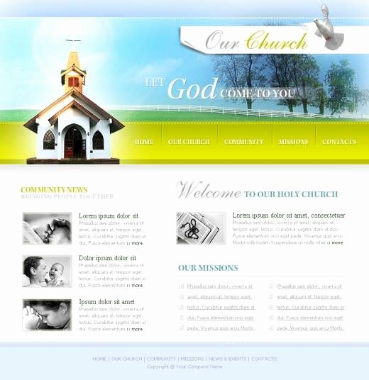 Our Church Website Template Templatesbox