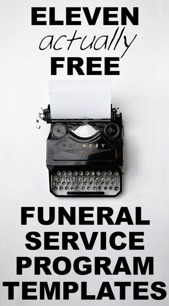 Our Favorite Actually Free Funeral Program Templates