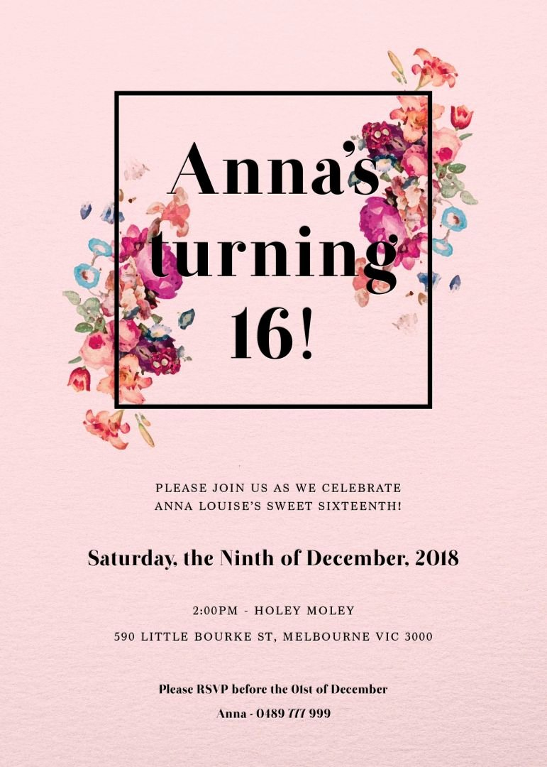 Our top 10 Birthday Invitation Templates for Teenagers