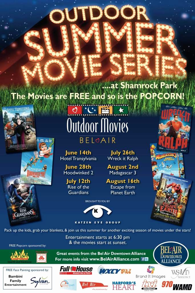 Outdoor Movie Night Flyer Template