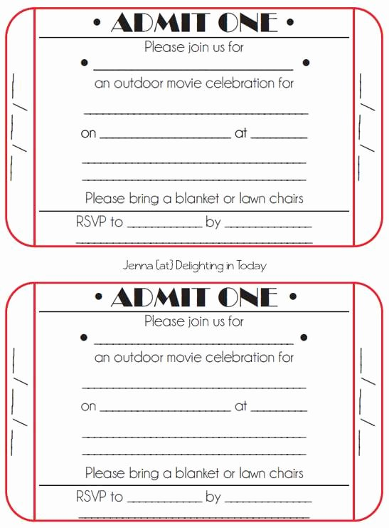 Outdoor Movie Night Invitation Template