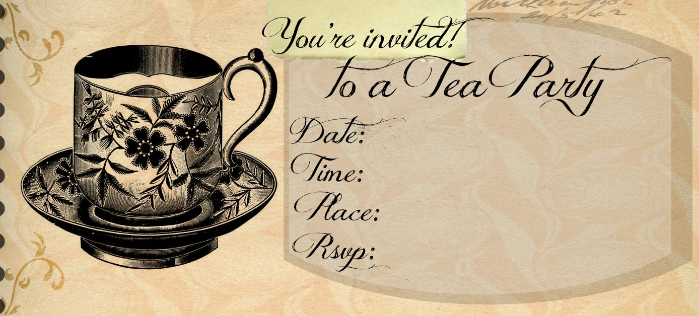 Outlaw Home Tea Party Invitation Template